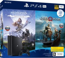 PlayStation 4 Pro 1Tb + Horizon Zero Dawn + God of War