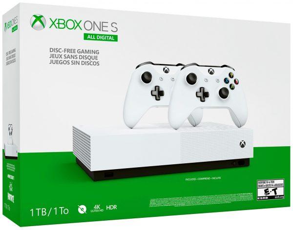 Xbox One S All Digital 1Tb + 2й геймпад